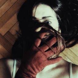 myphotography girl dark gloves moody freetoedit
