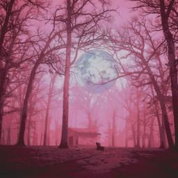 freetoedit trees moon curvestool comiceffect