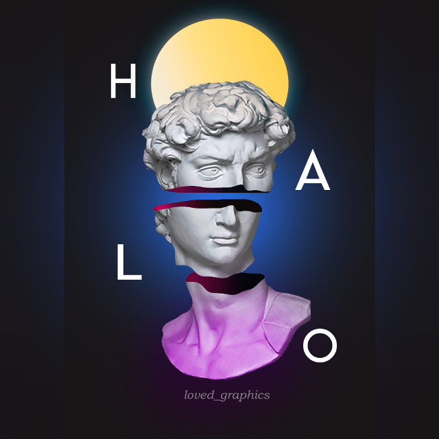 Hallow  . . . Idgaf about spelling  . . . #poster #design #greek #mythology #greekmythology #aesthetics #statue #surreal #artistic #art