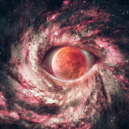 freetoedit eye edit galaxy surreal ircfullpinkmoon