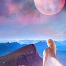 freetoedit pinkmoon moonlight skylovers skyporn ircfullpinkmoon