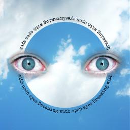 freetoedit eyes cute sky blue