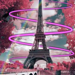 paris rainbow stikers edit freetoedit