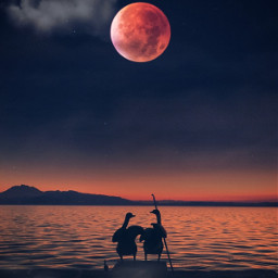 fullpinkmoon photoblending photomanipulation surreal edited