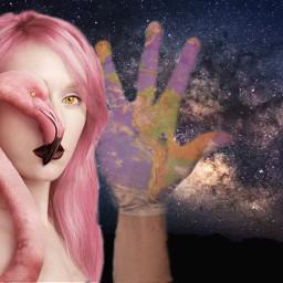 freetoedit el greeting girl hand irchighfive