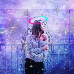 freetoedit galaxymagiceffect galaxygirl poparteffect starlight