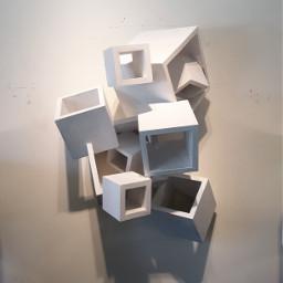 modernart cubes sculpture wallart