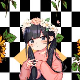 anime checkerd cute pastel asianart freetoedit