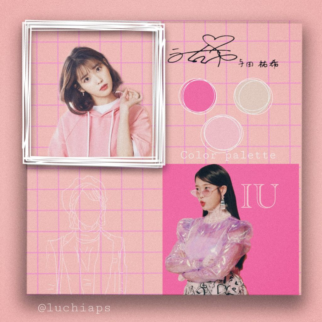 Freetoedit Iu Kpop Pink Pinky Fucsia Korea Edit Iuedit