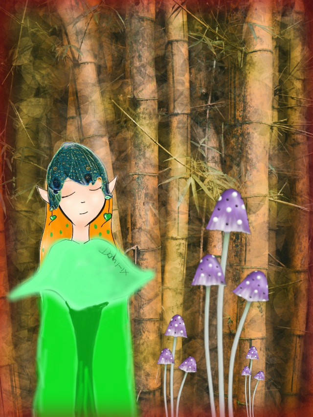 #freetoedit  #mushroomfairy
