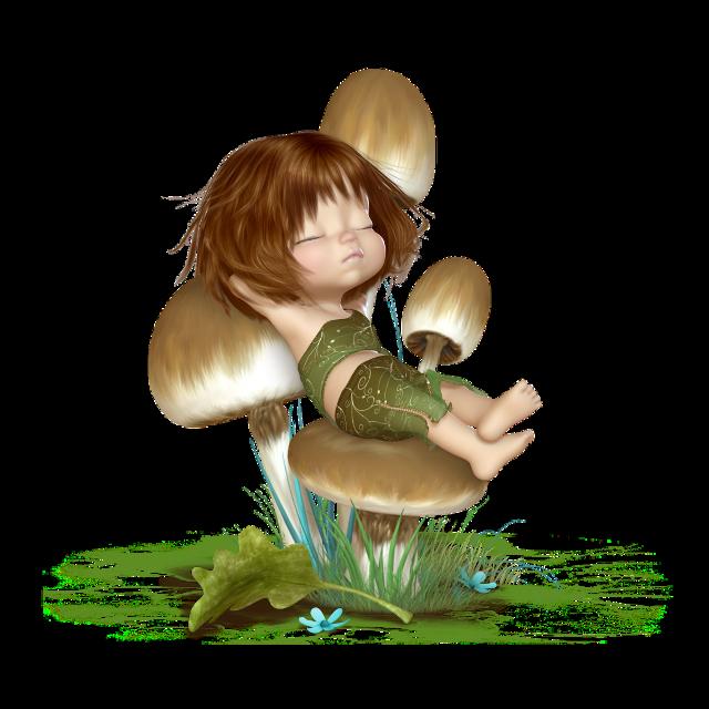 #ftestickers #mushroom #fairy #elf #asleep #cute