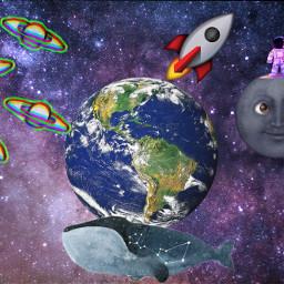 freetoedit космос луна ircplanetearth planetearth