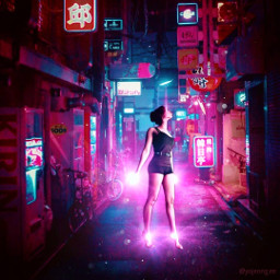 cyberpunk cyborggirl pinkaesthetic magical