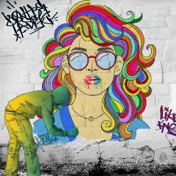 freetoedit irchairstyle hairstyle graffiti graffitistyle