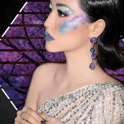 freetoedit galaxy makeup glitter sparkles ecgalaxymakeup