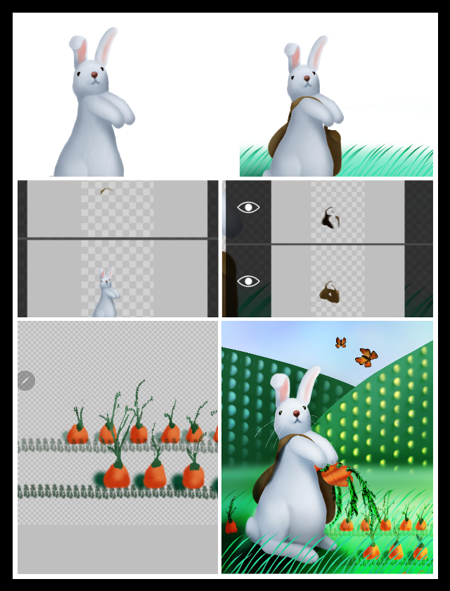 #nofeature #drawingprocess to challenge #scbunny URL...(tap to see) https://picsart.com/i/293840307020201  #bunny #layers  #freetoedit