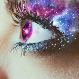 freetoedit galaxymakeup galaxyeyes galaxy eyes ecgalaxymakeup