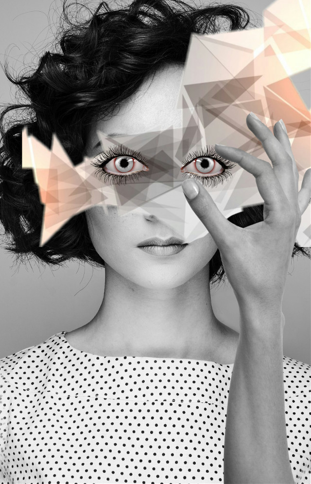 #freetoedit#eyes#hand