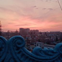 закат небо розовоенебо вечер
