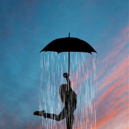 freetoedit rain sunset umbrella ircdancinginthelight