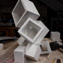 modern cubes blocks sculpture