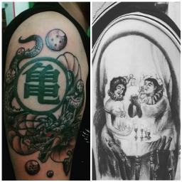 tattoo dragonball loveanddeath love death