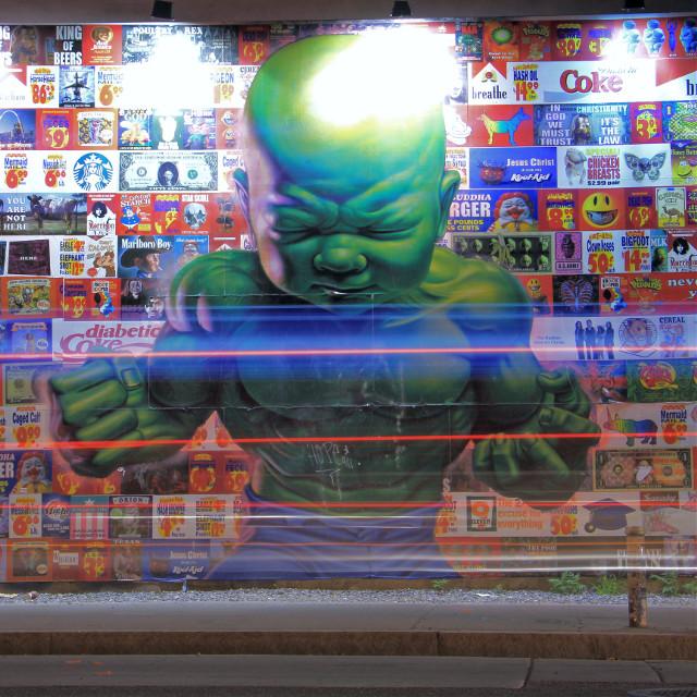 Endgame  • • 📷 : @agentsmith0047 • • #endgame #newyorkcity #nyc #manhattan #bigapple #graffiti #hulk #photography #travel #freetoedit