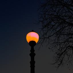 streetlight twilight photography minimalism evening