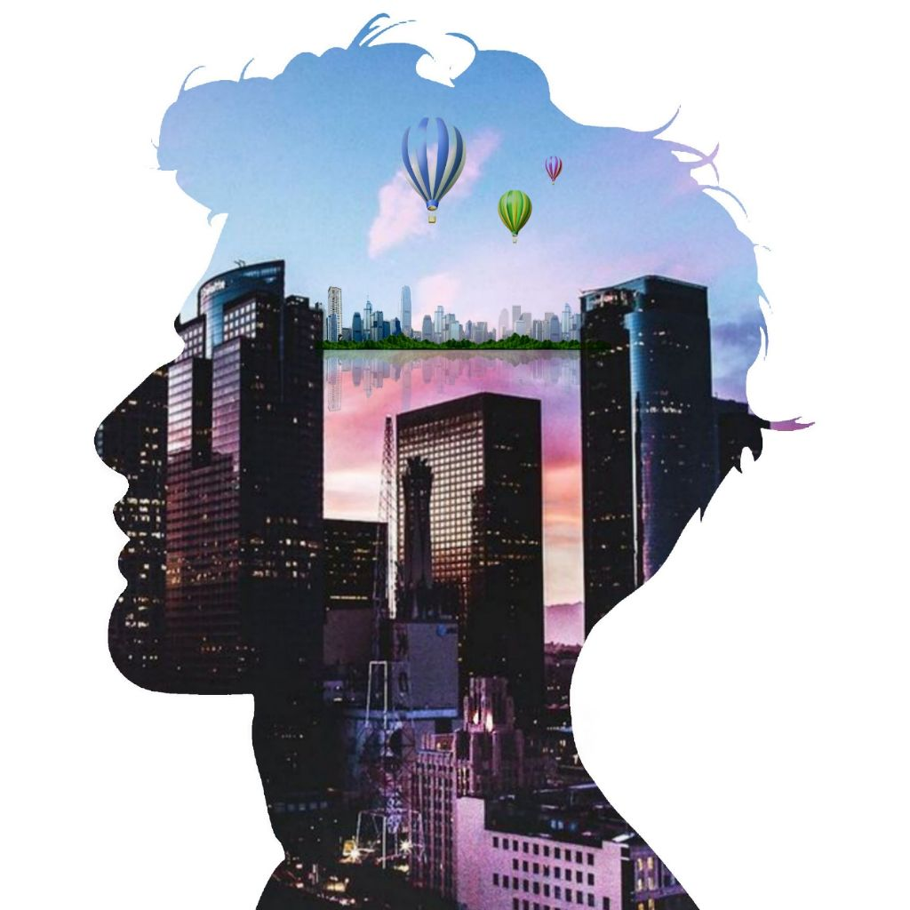 #freetoedit #doubleexposure #doubleexposures  #doubleexposurecontest #trumblr #boy #City #balloon
