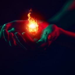 freetoedit hands flames stars surreal