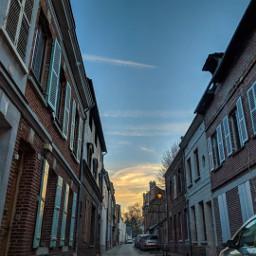 freetoedit street cars sunset sunrise