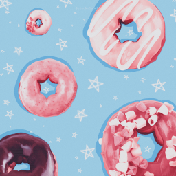 donuts madewithpicsart madebyme stars food freetoedit