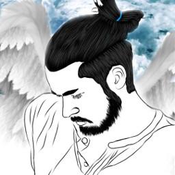 freetoedit boy heaven angel wingsofanangel ircremixboy