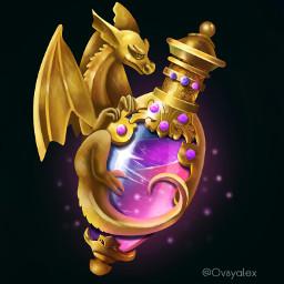 art drawing digitalart potion dragon