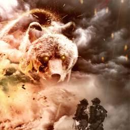freetoedit firefighter giantanimals fire surreal