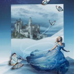 cinderella castle myprince princess glassshoe freetoedit