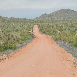 dirtroad desert lakealamo arizona beautiful freetoedit