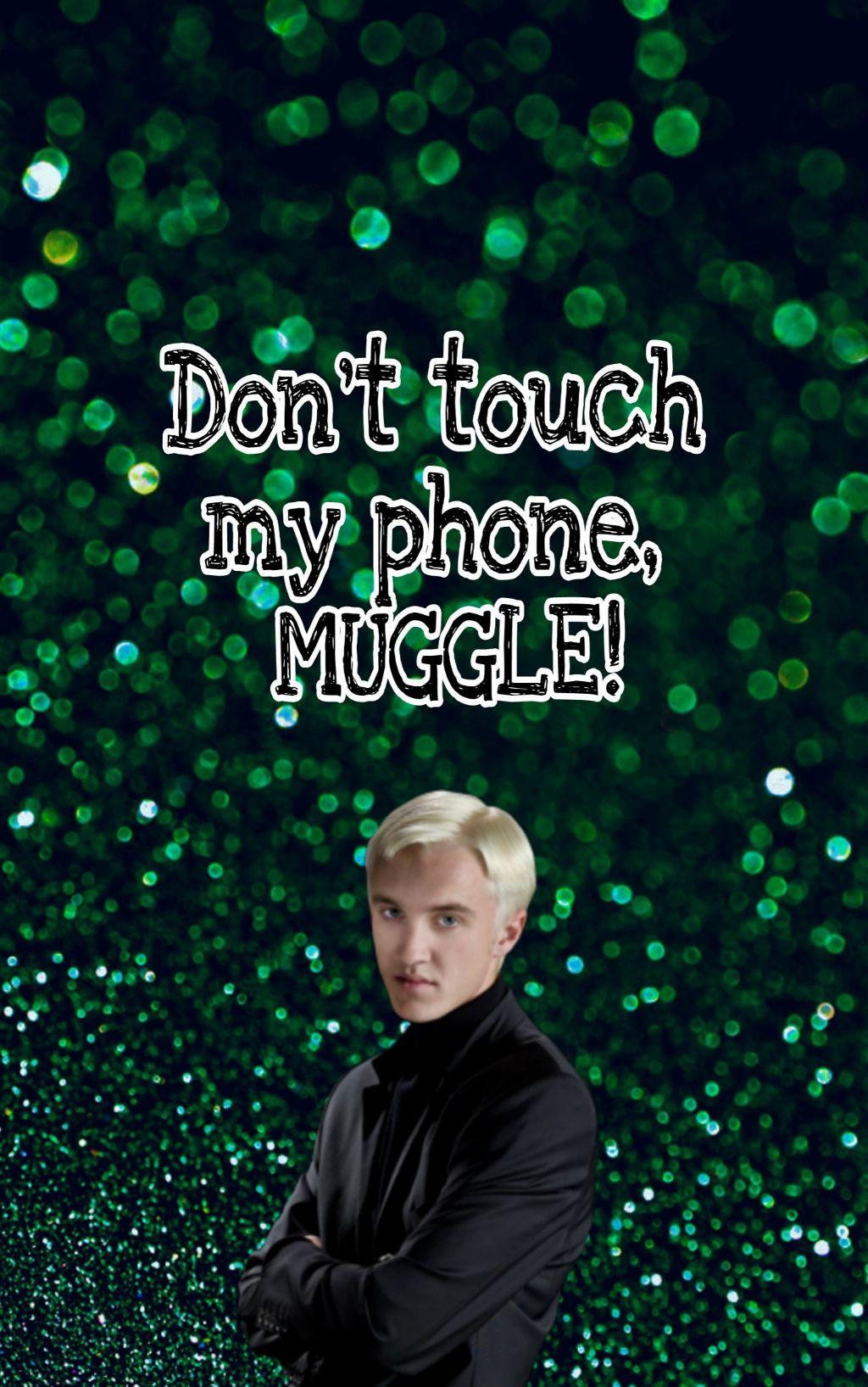 Freetoedit Dracomalfoy Muggle Donttouchmyphone Wallpape