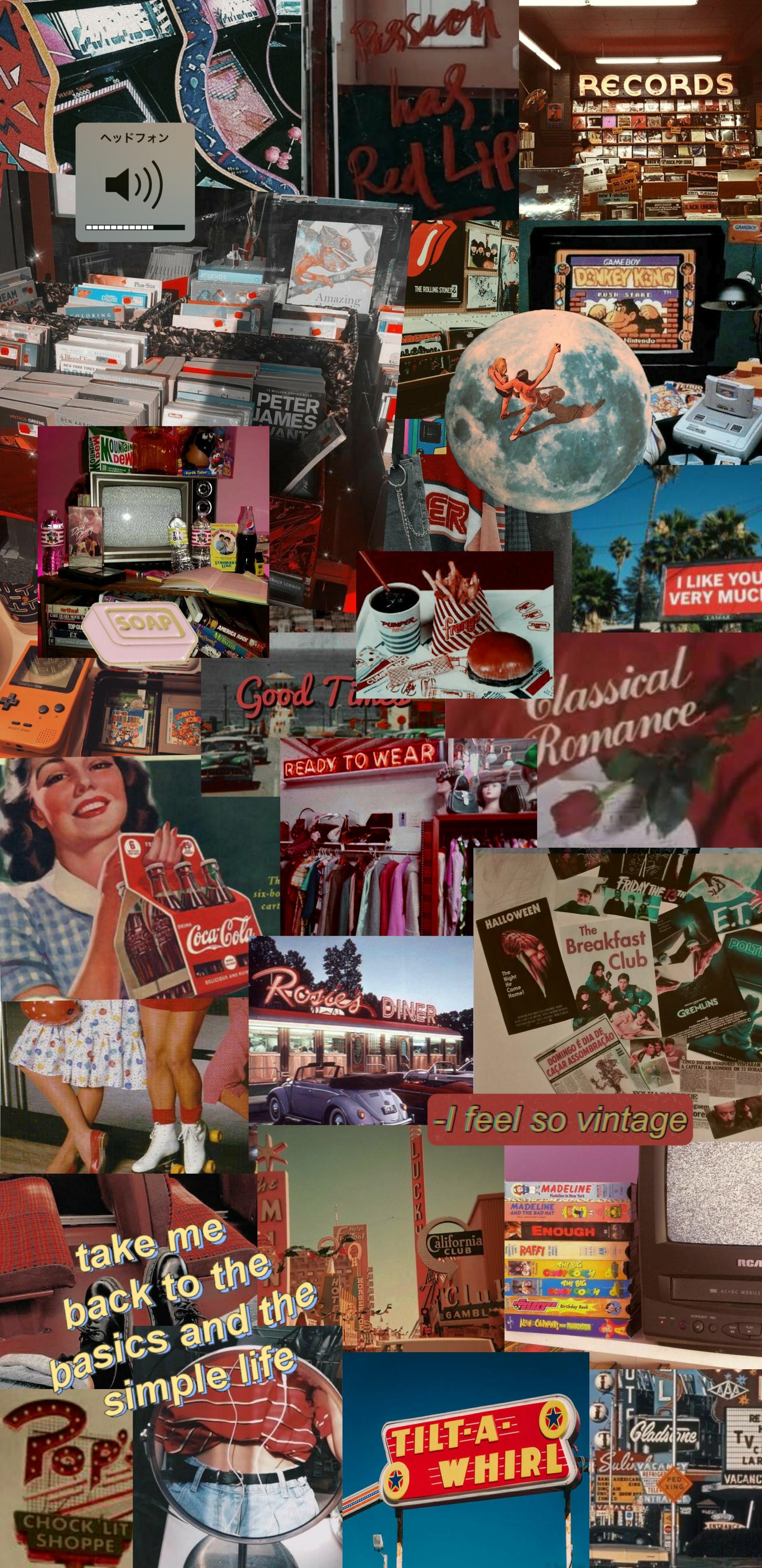 Wallpaper Aesthetic Vintage Color Red I Love It Vinta