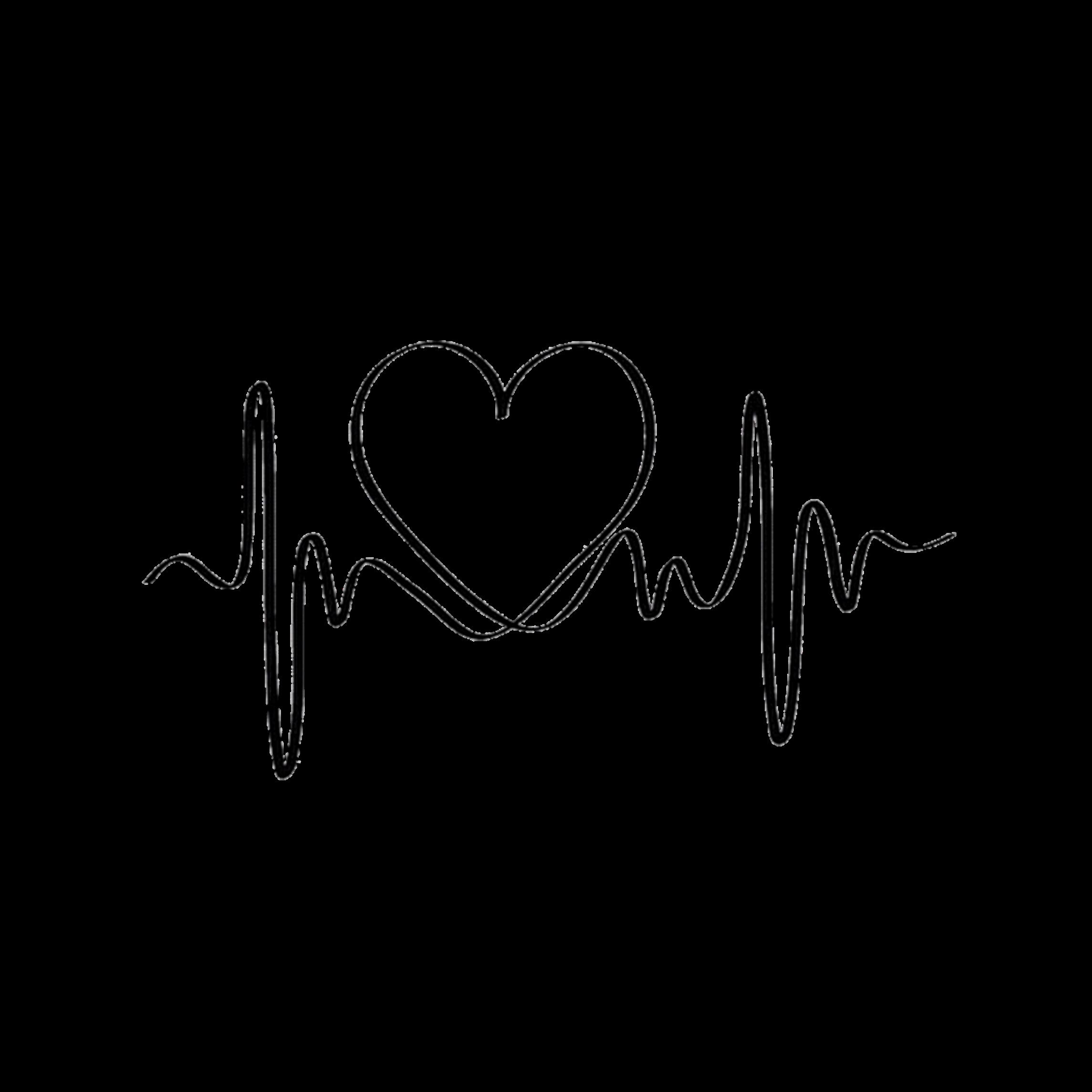 Картинка кардиограмма сердца черно-белая