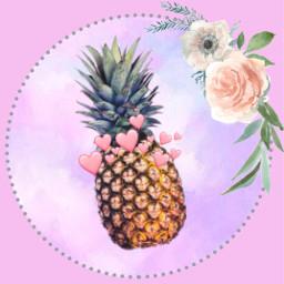 pineapple🍍 harts❤ freetoedit pineapple harts