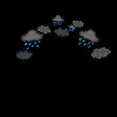 freetoedit clouds crown rain sky