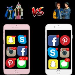 girls vs boys apps notification freetoedit