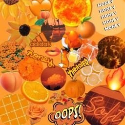 freetoedit orange tumblr stickers aestetic