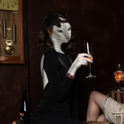 cats catsofpicsart fotomontaggio animalhuman femme freetoedit