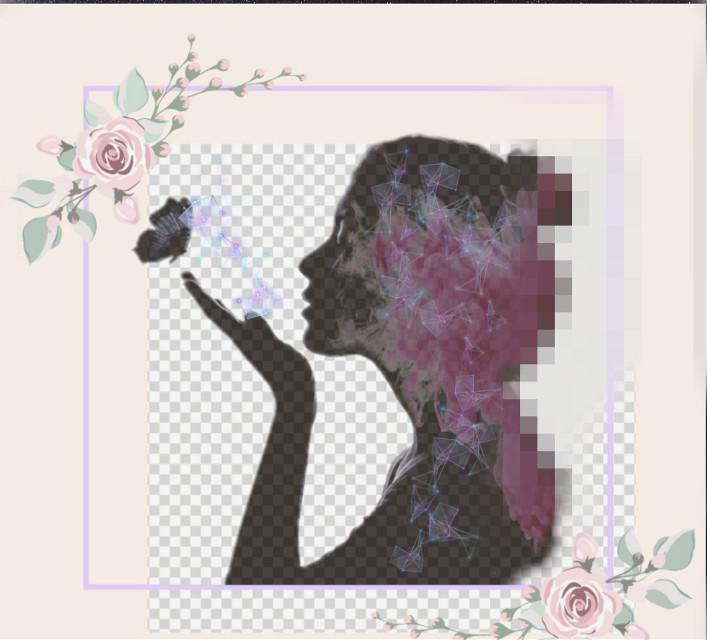 #freetoedit #pixelated #silhouette