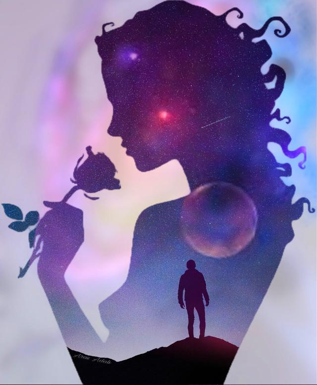 #freetoedit #doubleexposure #silhouette #picsart #plants #galaxy #space #universe #stars @pa @freetoedit