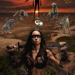 freetoedit darkside women warrior warriorwoman