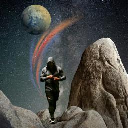 freetoedit rock men planet surreal