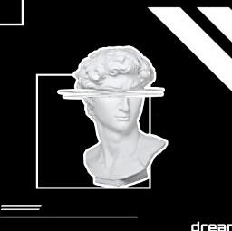 freetoedit white error heykel statue